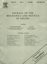 Journal of The Mechanics and Physics of Solids 04/2009