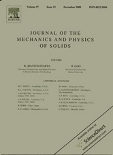 Journal of The Mechanics and Physics of Solids 12/2009