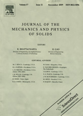 Journal of The Mechanics and Physics of Solids 11/2009