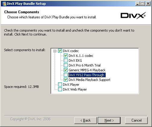 DivX Play Bundle Setup