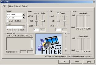 AC3 Filter 1.01a Properties